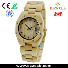 hot wood watch style made of nature wood and Japan movement hot selling