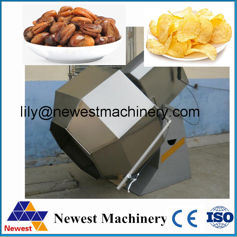 Biggest manufacturer low price potato fries flavoring machine/seasoning machine