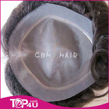 Wholesale unprocessed remy hair toupee for men