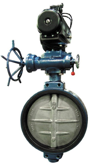 Centerlined Butterfly valve Pneumatic Operator