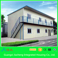 Factory sale modern mobile home prefab house with insulated steel fabricated walls