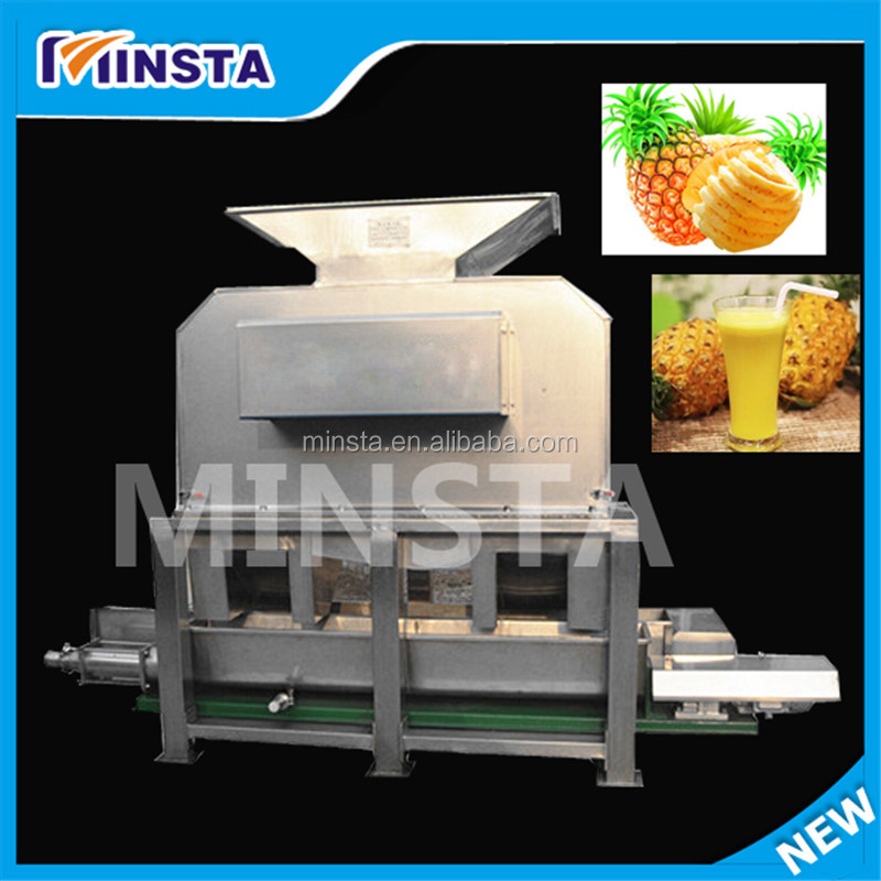 new invented products stailess steel pineapple peeling juicer machine
