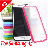 Newest candy color mobile phone case soft tpu and hard frosted pc back cover case for samsung galaxy A5 case