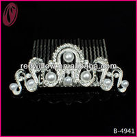 Rhinestones And Crystals Tiara Hair Comb Wedding Decoration