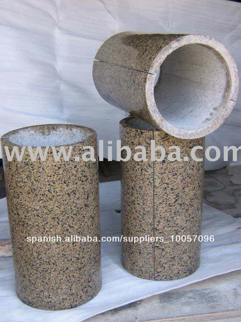 La columna de granito columna de piedra pilares for Piedra de granito precio