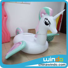 china manufacture custom adult water giant toys inflatable ride on Pegasus Flamingo Peacock Swan Unicorn pool float