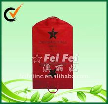 100 gsm non woven Red Garment Suit Cover Bag with metal buttons closure