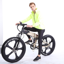 Mountain Electric Beach Cruiser E Bike Electric Double Disc Brake Bicycle