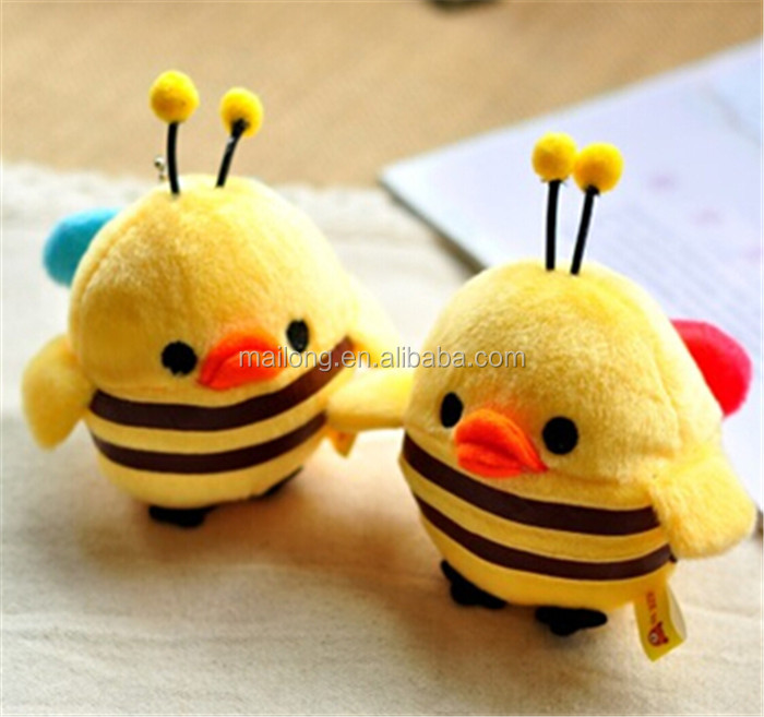 Small bees chicken easily bear series Four inch plush toys Small catch machine toys PN6230