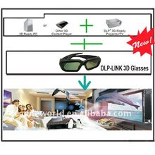 Lastest low price high quality 3d projector shutter glasses dlp link