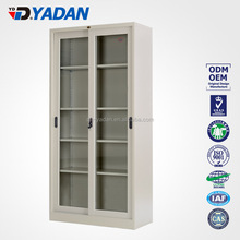 2017 Factory direct sale Wrought Iron Country Style White Glass Door Cabinet