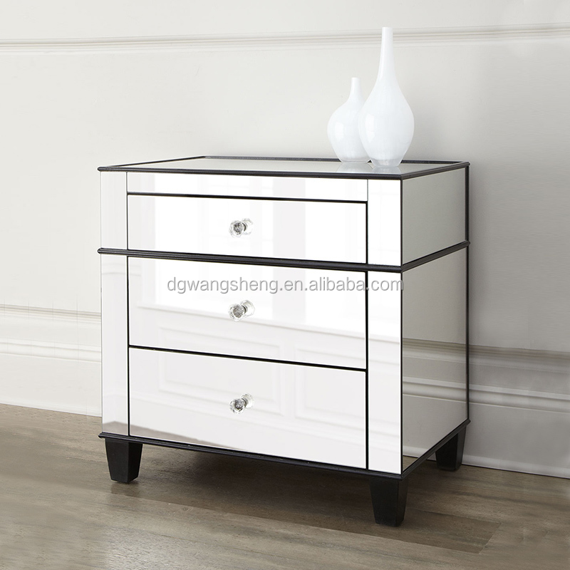 Modern Bedroom furniture mirror bedside nighstand table