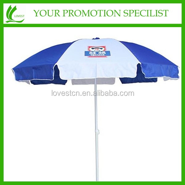 Fashion Dome Beach Cane Handle Umbrella For Advertising
