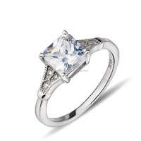 New arrival 925 Silver Square CZ Stones Ring Sterling Silver GNJ0545