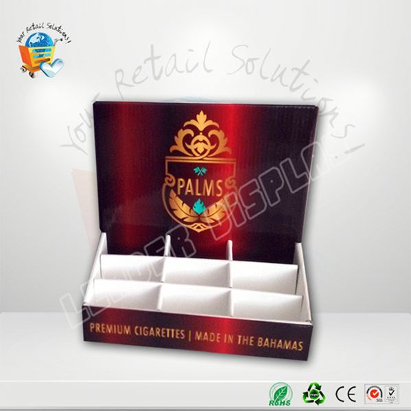 OEM cigarette display cabinet snacks cardboard display racks
