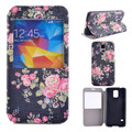 Hot selling painting leather phone case for Samsung S5 , painting Mobile phone leather case for Samsung S5
