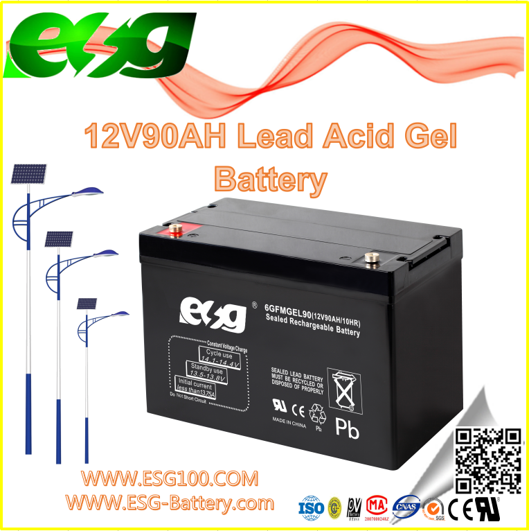 New products Lead Acid Manufacture UPS high rate AGM SLA MF VRLA solar Lead Acid GEL battery 12V90AH
