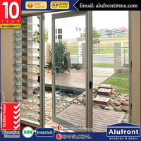 aluminum frame hinged door exterior metal french doors glass inserts blinds