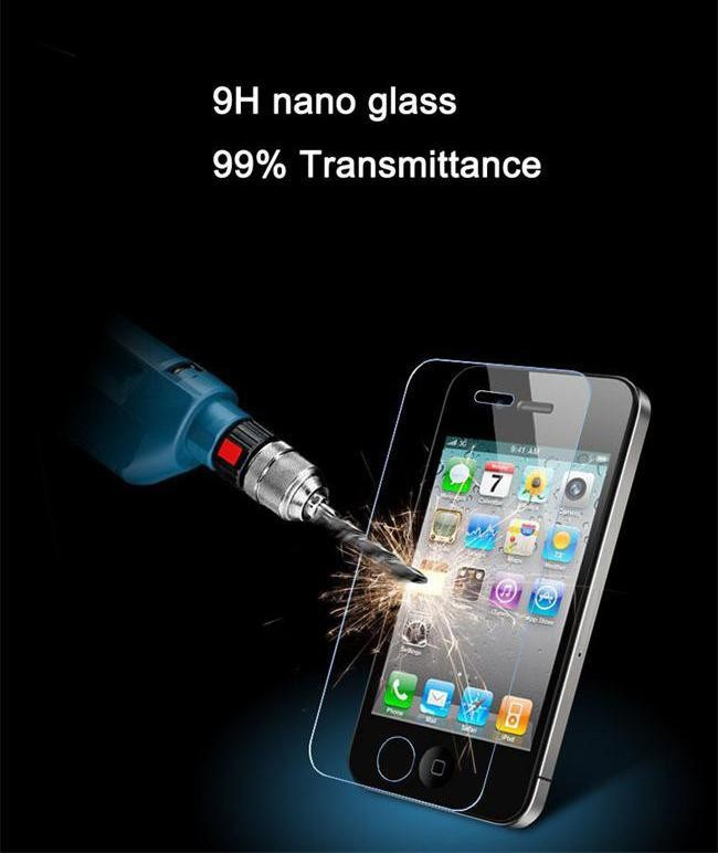 HD Clear ultra thin Rounded Edge 2.5D 0.3mm film for iphone 5 Tempered Glass screen protector