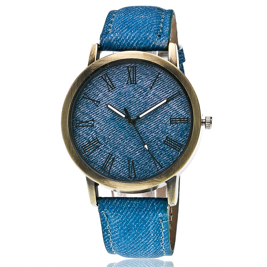 2017 <strong>hot</strong> popular make custom watch jeans leather bracelet watches quartz analog wristwatches
