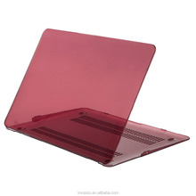 Mosiso notebook plastic hard case clear marsala red laptop case cover for macbook