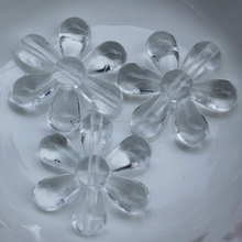 Cheap 34mm Large Plastic Crystal Acrylic Flower Beads for Christmas Room Dividers DIY