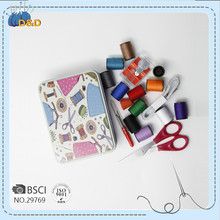 D&D sewing tin box Sewing kit for home & travelling storage use for adults