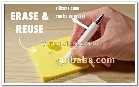 waterproof silicone Memo Pad/Erasable memo pad with pen