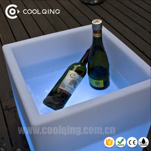 40*40*41cm PE remote 16 RGB color Event furniture sitting Chair ice bucket led plastic cube