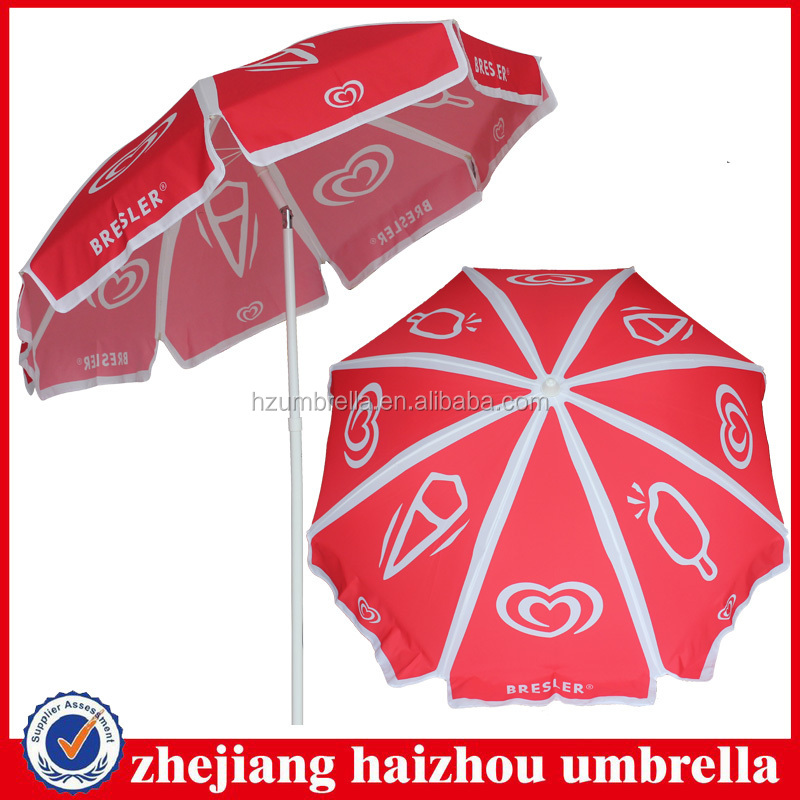 bresler steel frame wall's beach umbrella with zinc tilt,umbrella with water base,beach umbrella good windproof