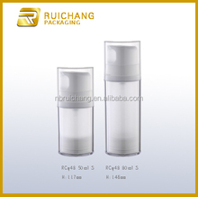 50ml/80ml double tube cosmetic airless bottle,airless bottle for facial cleanser