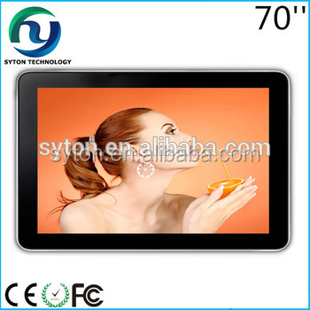 70 inch single version wall mounted led advertising monitor