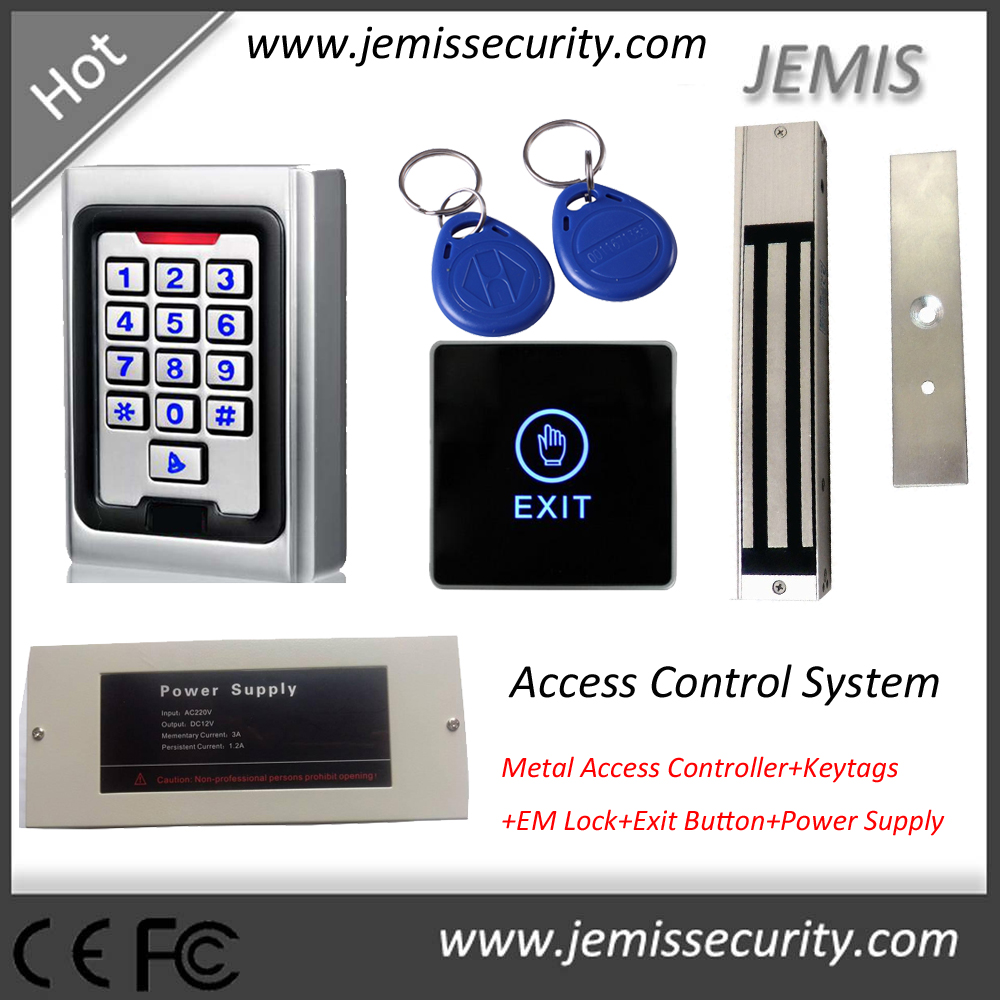 Outdoor Metal RFID Access Control with Luminous, Rainproof Access Control Keypad, Single Door Access Control System