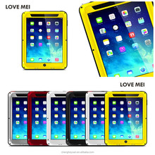 Best Selling Products love mei Aluminum Metal Waterproof Gorilla Glass Case For ipad air