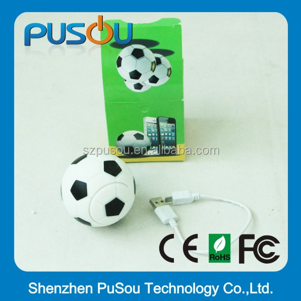 super slim catoon football power bank for mobile phone,sedex and disney audit power bank