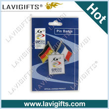 metal flag pin / friendship flag pins