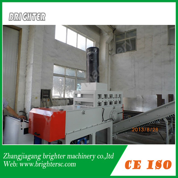 single shaft shredder for recycling big plastic pipe