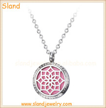 Cheap factory direct wholesale perfume charm jewellery diffuser pendant necklace