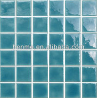 Triangle Shape Blue Ceramic Mosaic for Wall and Decoration Mosaic tiles