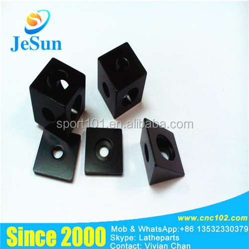 Hot sale many sizes of cnc machining plastic black spare parts on Guandong