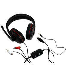 4 in1 Compatible Gaming Headset Headphone With Mic and Light for PS4 for xbox360 with 3D Stereo