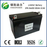 12v 100ah rechargeable lifepo4 automotive battery