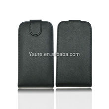 black pu leather flip case for huawei ascend p6 with three credit card slot