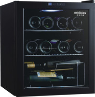 Plastic door black color 12 bottles compressor wine cooler