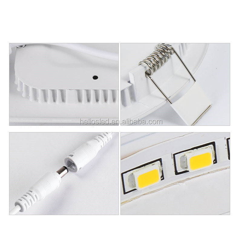 Factory price white indoor lighting dimmable led flat panel light 15w 110v