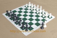 chess game with chess pieces and chess board