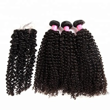 ISEE Brazilian Hair Vendors Wholesale 10A Top Virgin Jerry Curl Human Hair Weave Extensions Cut From Young Girls