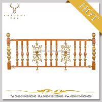 2015 luxurious wooden and wrought iron handrail XTL-02 for lodge