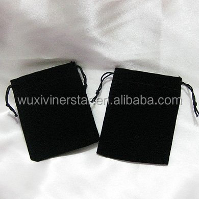 Professional producing microfiber necklace velvet pouch made in China