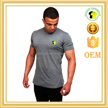 high quality heather grey mens muscle pro fit t shirt fitness t shirts